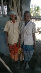 A smiling Krishnaveni beside her Mother-in-law. She had not been clicked in ages.